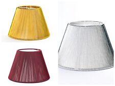 Lampenschirm Stofff D: 140mm Textil Schirm Steckschirm gold silber Bordeaux