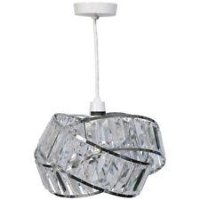 Kliving Brompton Modern Chrome Acrylic Non Electric Pendant Ceiling Light Shade