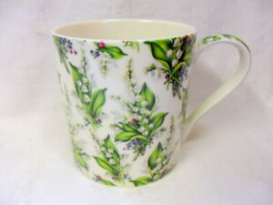 Jumbo mug in lily of the valley floral design