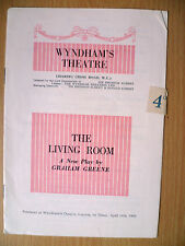 WYNDHAMS THEATRE PROGRAMME 1953 THE LIVING ROOM By Graham Greene