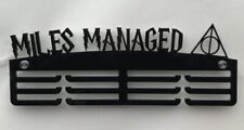 2 x Thick Acrylic Triple Tier 5mm MILES MANAGED Medal Hanger