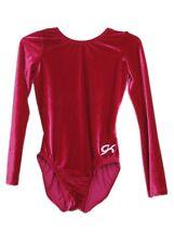 Gk Elite Berry Velvet Gymnastics Leotard - Axs Adult Extra Small 4224