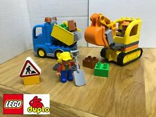 Lego Duplo 10812 Truck And Tracked ExcavatorDigger Building Town Free Delivery