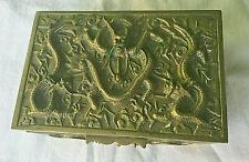 ANTIQUE CHINESE BRONZE DRAGON BOX