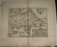 THRACE GREECE 1741 GEORG HORN UNUSUAL ANTIQUE ORIGINAL COPPER ENGRAVED MAP