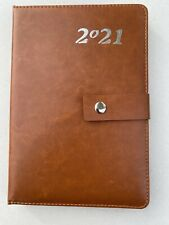 2021 Planner 5x8 Daily Calendar Diary Hard Cover Appointment Brown
