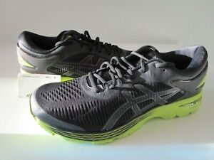 NEW MEN'S SZ 11 ASICS GEL-KAYANO 25 BLACK/NEON LIME 1011A019 001