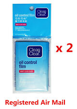 Clean & Clear Oil Control Film Blotting paper 60 sheet Johnson & Johnson x 2