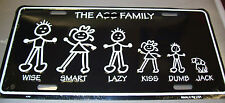 The Ass Family Metal Novelty License Plate, Funny!! made in the USA