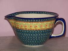 Genuine UNIKAT Polish Pottery Large Batter Bowl! Mama Rose Pattern!