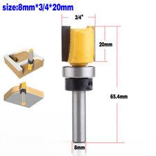 "1Pcs 3/4"" Diameter Flush Trim Template Router Bit Shank 8mm - Length 20mm tackle"