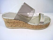 Donald J Pliner Gold Sabrina Wedge Sandal Size 9 M NWOB