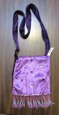 Velvet Sequined Mauve & Purple  Beaded BO_HO shoulder style bag & inside pocket