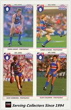1992 Regina AFL Trading Cards Club Team Set Footscray Bulldogs (11)-- Mint!
