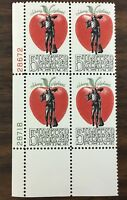 1317   Johnny Appleseed.  Untagged Plate block  MNH 5 cents.  1966.