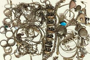 245 grams 925 Sterling Silver Jewelry Lot Parts Scraps #SV6