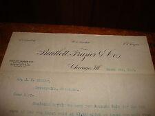 Letterhead 1889 Bartlett Frazier Commission Merchants Chicago