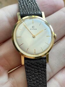 Stunning Vintage 1960's Ladies CYMA *18k Solid Gold* (750) 18ct Cal-R.474.2,
