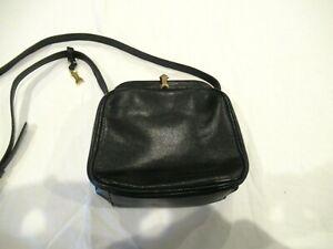 GoldPfiel black leather purse handbag pocketbook, handmade in Germany