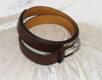 NEW Croft & Barrow Men's Dress Belt Coated Leather Tan size 44