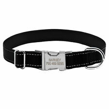 Reflective Personalised Dog Collars Custom Pet Puppy Name ID Collar Tags S M L