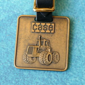 "CASE 8 Wheeled Tractor Watch Fob - VINTAGE Large 2"" Square IH Steiger & Strap"