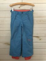 O'Neil Girls Blue/Coral Insulated Adjustable Waist Snowboard/Ski Pants. Size 5.