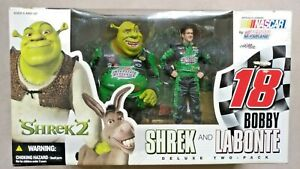NEW - SHREK AND BOBBY LABONTE 2-PACK MCFARLANE FIGURES Dreamworks NASCAR