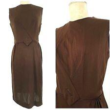Vintage 60s Rockabilly Pinup Dress Size Medium Sleeveless Costume Wiggle Pencil