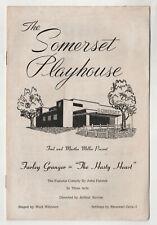 1950s THE HASTY HEART Farley Granger SOMERSET PLAYHOUSE Theater Program MASS MA