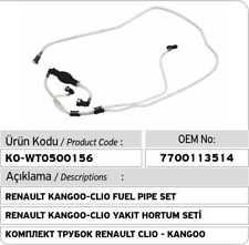 Renault Clio I - Kangoo - Megane - Scenic - Traffic Fuel Pipe Set 7700113514