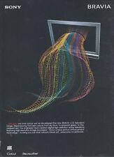 Sony Bravia LCD TV 2006 Magazine Advert #3116