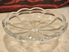 Fenton Crystal Hersey Clear Candle Holder Peg appy