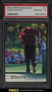 2001 Upper Deck Golf Tiger Woods ROOKIE RC #1 PSA 10 GEM MINT
