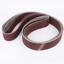 6Pc Oxide Sanding Belt 180/240/320/400/600/800 Grit For Sander Grinding 2''x72''