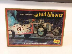 RARE LINDBERG FORD A ROADSTER MIND BLOWER MODEL CAR KIT UNBUILT 1/24