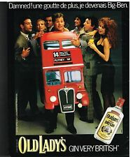 Publicité Advertising 1986 London Dry Gin