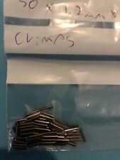 100 X. 1.2 Mm X 8mm Bore fishing crimps