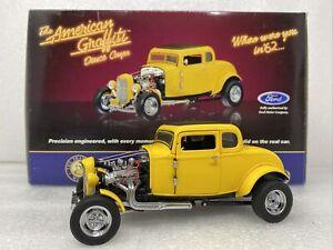 1/24 Franklin Mint American Graffiti  1932 Ford Deuce Coupe Yellow # B11YZ88