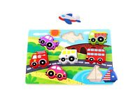 Tooky Wooden Traffic Puzzle Educational Toy Christmas Gift for kids