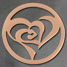 Collane e pendagli di bigiotteria rosa con cuore in acciaio