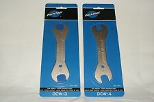 NEW Park Tool Bicycle Cone Wrench Set (13,15,17,18mm) -DCW-3 DCW-4