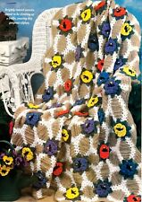 Pretty Pansy Trellis Afghan/Crochet Pattern Instructions Only