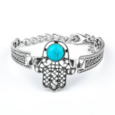 Turkey Kabbalah Blue Evil Eye Palm Glaze Beads Chain Bracelet Earring Jewelry