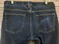 Simon Spurr Mens Jeans Straight Leg Dark Wash Denim Size 32 x 28