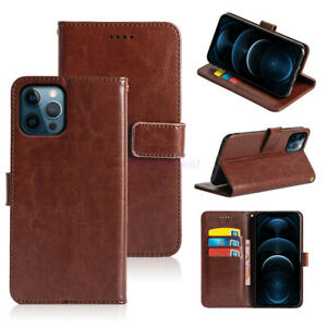 For iPhone 12 Mini/12 Pro Max Case PU Leather Flip Wallet Card Stand Phone Cover