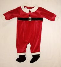Christmas  baby boy 3-6 Months Velour footed Sleep and Play by Simply Basic.