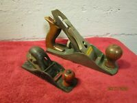 Lot of 2 Vintage Wood Planers Planes Craftsman + Unmarked Made in USA