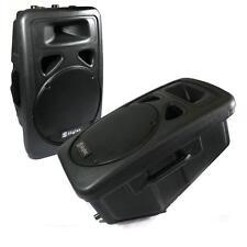 2x Skytec ABS-Gehäuse 12 Zoll Subwoofer 3-Wege Lautsprecher Boxen mit 2x600W