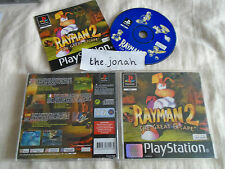 Rayman 2 The Great Escape PS1 (COMPLETE) rare Sony Playstation black label